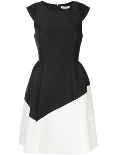платье с контрстными панелями Halston Heritage