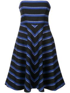полосатое платье без бретелей Halston Heritage
