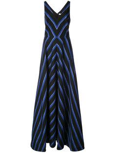 полосатое платье в пол Halston Heritage