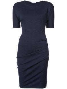 трикотажное приталенное платье  Halston Heritage