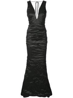 креповое вечернее платье  Nicole Miller
