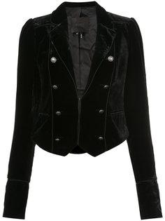 укороченный бархатный пиджак Paige