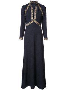 жаккардовое платье с вышивкой Tadashi Shoji