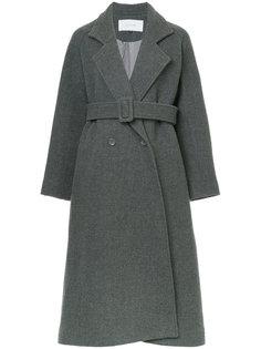 прямое пальто с поясом Le Ciel Bleu