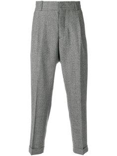 зауженные брюки с заниженной проймой Kent & Curwen