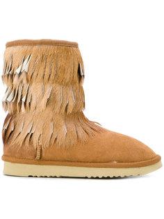 ботинки Eskimo с бахромой Mou