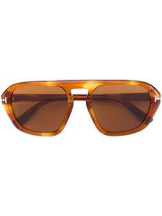 солнцезащитные очки с массивной оправой David Tom Ford Eyewear