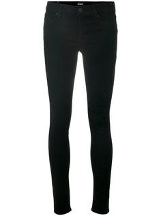 джинсы скинни с эффектом потертости Hudson