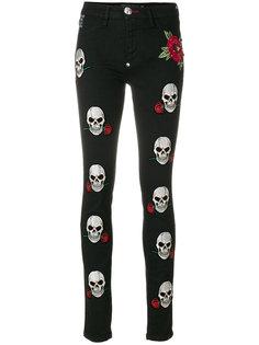 джинсы с черепами Philipp Plein