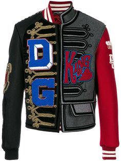 асимметричная куртка-бомбер с заплатками Dolce & Gabbana