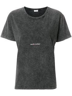 футболка с логотипом Saint Laurent