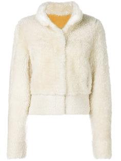 куртка-бомбер с отделкой из овчины Liska