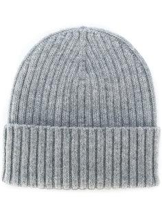 кашемировая шапка в рубчик Delloglio