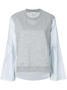 свитер с контрастными рукавами 3.1 Phillip Lim