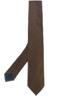 жаккардовый галстук в полоску Delloglio