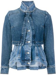 многослойная джинсовая куртка Alexander McQueen