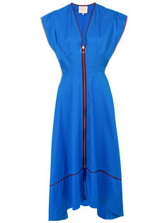 асимметричное платье на молнии Roksanda