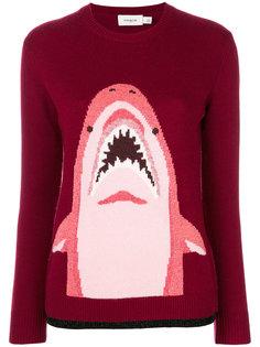 свитер с акулой Coach