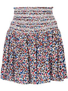 юбка с завышенной талией с цветочным узором Tory Burch