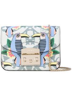 сумка через плечо Metrolopis с принтом туканов Furla