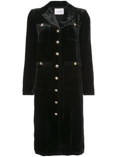 однобортное пальто на пуговицах Frame Denim