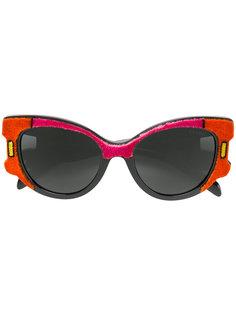 солнцезащитные очки в бархатной оправе Prada Eyewear
