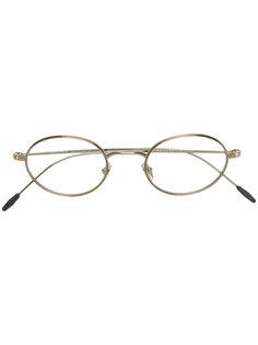 классические очки в круглой оправе Giorgio Armani