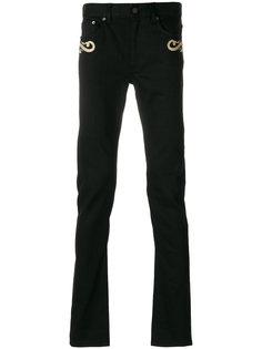 джинсы кроя скинни с вышивкой Roberto Cavalli