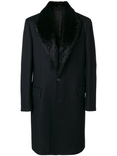 пальто с меховым воротником Roberto Cavalli