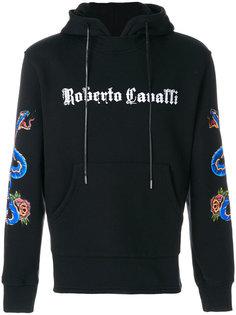худи с принтом логотипа Roberto Cavalli