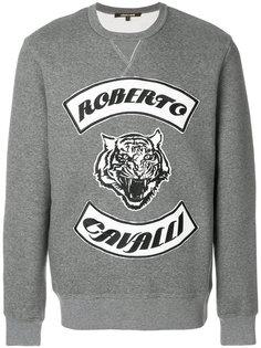 джемпер с логотипом и тигром Roberto Cavalli