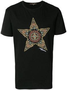 футболка с декорированной звездой Roberto Cavalli
