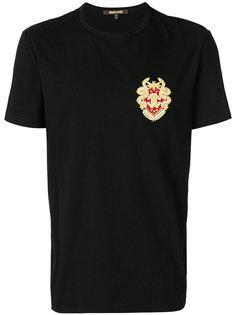 футболка с нашивкой Roberto Cavalli