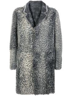 пальто из каракуля Emporio Armani