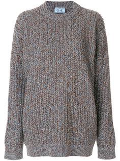 объемный вязаный свитер Prada