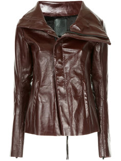байкерская куртка с объемным воротником Fagassent