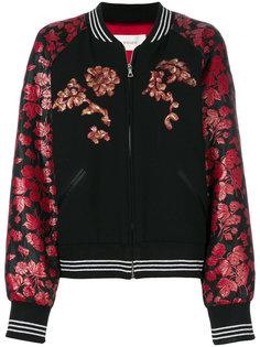 куртка-бомбер с цветочным принтом Rodarte
