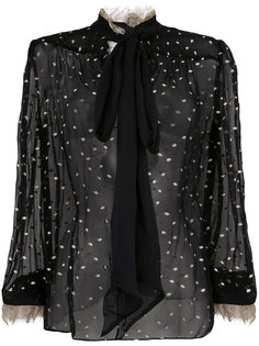 прозрачная блузка с бантом Rodarte