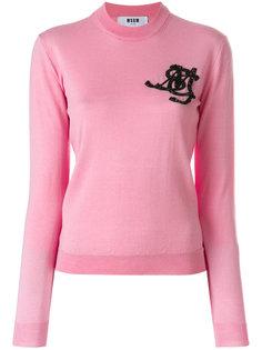 свитер с декорированным логотипом MSGM