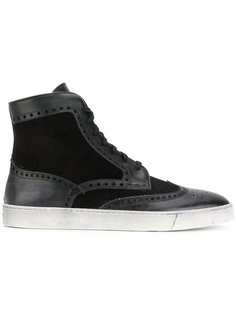ботинки с перфорацией  Santoni