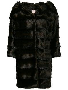 меховое пальто с капюшоном Venus
