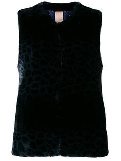 меховая жилетка с леопардовым узором Venus