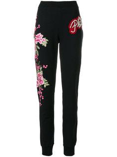 спортивные брюки с цветочными нашивками Philipp Plein