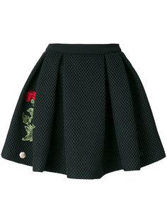 мини-юбка с заплатками с розами Philipp Plein