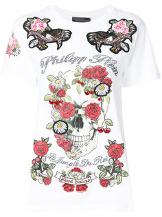 футболка с принтом роз Philipp Plein