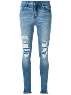 джинсы кроя скинни с потертой отделкой J Brand