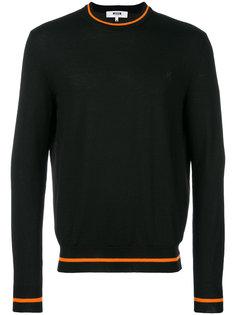свитер с полосатой окантовкой MSGM