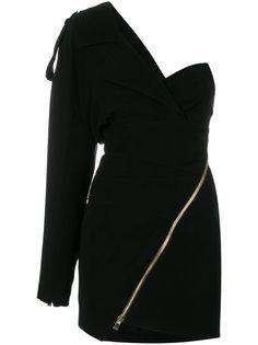 облегающее платье на одно плечо Alexandre Vauthier