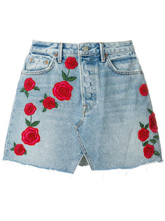 джинсовая юбка с нашивками Grlfrnd
