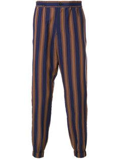 зауженные брюки в полоску Etro